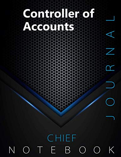 """Chief Controller of Accounts Journal, CCoA Notebook, Executive Journal, Office Writing Notebook, Daily Decisions & Action Items Notebook, 140 pages, 8.5"""" x 11"""", Glossy cover, Black Hex"""