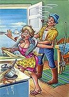 大人のための数字によるDIYペイント初心者ボート釣り手工芸品40x50cm数字によるペイントDIY絵画数字によるアクリルペイント絵画キットホームウォールリビングルーム寝室の装飾