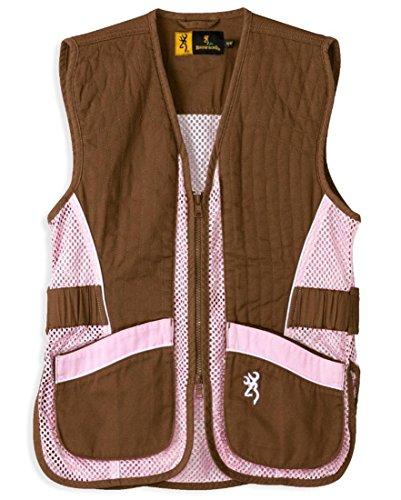 Browning Jr Vest for Her,Brown/Pink,XL 3050548804