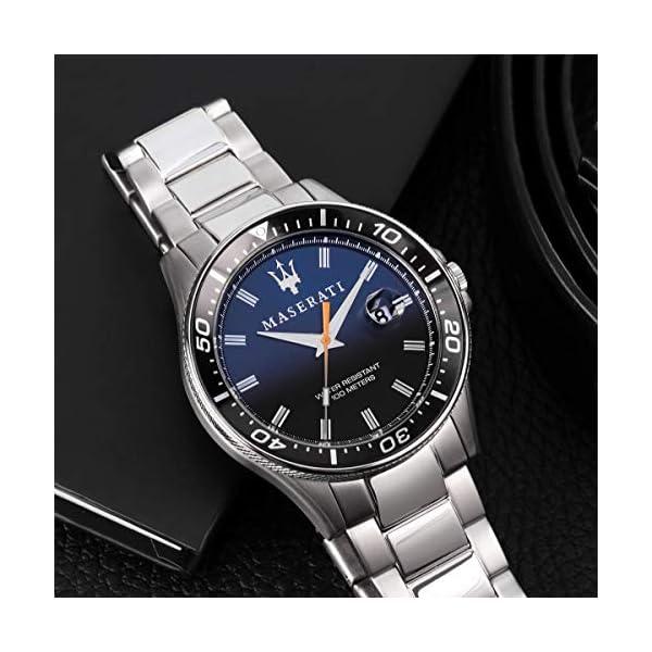 Maserati Reloj para Hombre, Colección Sfida, en Acero Inoxidable, con