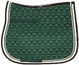 USG General Purpose Quillted sottosella con Doppia Corda Piping, Full, Verde Scuro/Beige/Marrone con Bordo, Colore: Ecru/Verde Chiaro