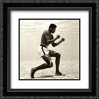 Muhammad Ali for Life Magazine (Underwater) 2X Matted 20x20 Black Ornate Framed Art Print by Flip Schulke