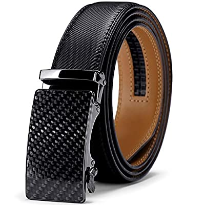 Men Belt, Jiguoor Ratchet Belt Genuine Leather ...