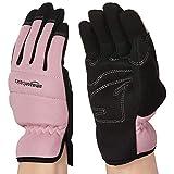 Amazon Basics - Guantes de trabajo o de jardinería, para mujer, de color rosa, talla XS
