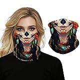 Bohend Boho Deporte Pañuelo facial Arte Chica Bandana Neck Gaiter Multifuncional Sombreros Respirable Nuestras puertas Vendas para hombres y mujeres