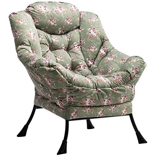 HollyHOME Relaxsessel Sessel mit Stahlrahmen, Relaxliege Freizeitsofa Chaiselongue Fauler Stuhl Relax Loungesessel mit Armlehnen und Taschen, Blume