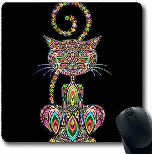 Mousepad Mousemat Farbe Zeitgenössische Abstrakte Malerei Wandfliesen Mosaik Grafik Keramik Öl Alter Form rutschfeste Gaming Mauspad 25X30 cm