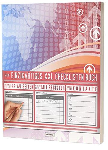 """Mein Checklisten Buch / 122 Seiten, Register uvm. / Jetzt mit Datum, Priorität und Platz für Notizen / PR501 """"Growing"""" / DIN A4 Soft Cover"""