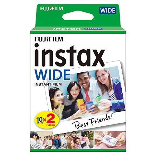 Fujifilm Film - 16385995 - Instax Wide 99 x 62 mm - Compatible Appareil Instax Wide uniquement - Bipack 10 x 2 films