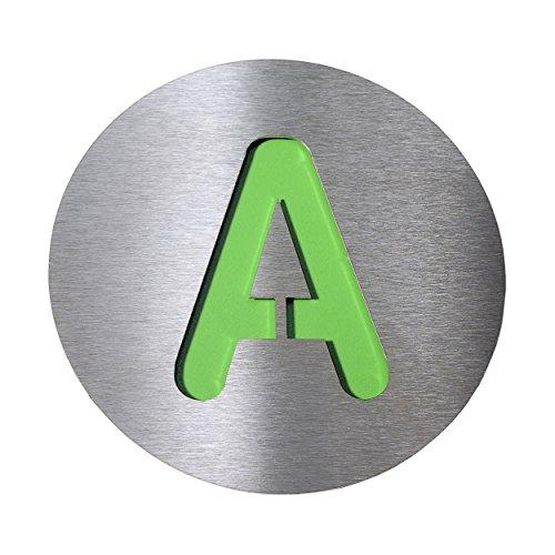 Radius Hausnummer A, groß - grün