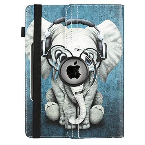 XTstore Funda Universal Tablet 10.1 Pulgadas, 360 Grados Rotación Protectora Carcasa para iPad 10.2 2019, Samsung Galaxy Tab A6 10.1, Lenovo TB-X103F, Huawei MediaPad M5 Lite/T5 10, Elefante