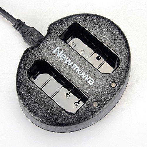 Newmowa Ultradünnes USB Ladegerät für Nikon EN-EL14, EN-EL14a und Nikon P7000, P7100, P7700, P7800, D3100, D3200, D3300, D5100, D5200, D5300,5500D