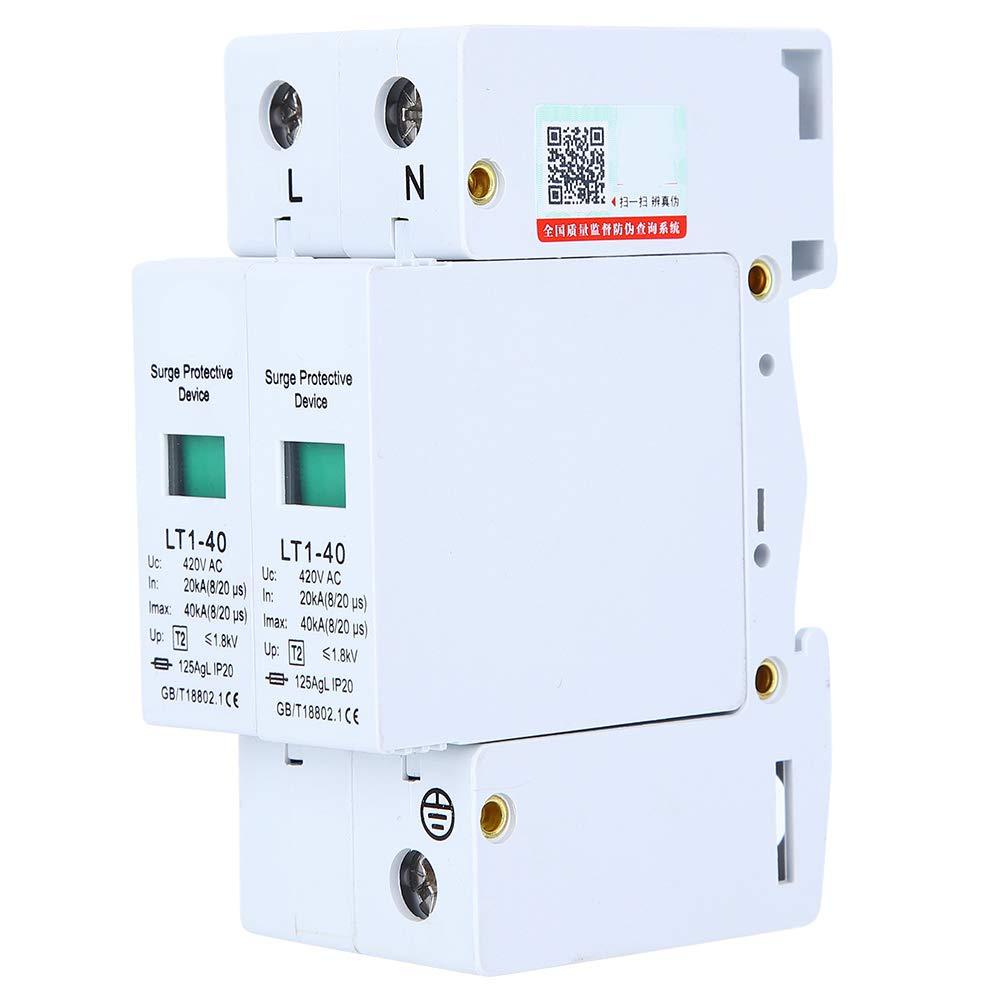 Ranking TOP12 LT1-40 Max 58% OFF 2P 40KA Surge Protector Protection Power 4 DIN Rail