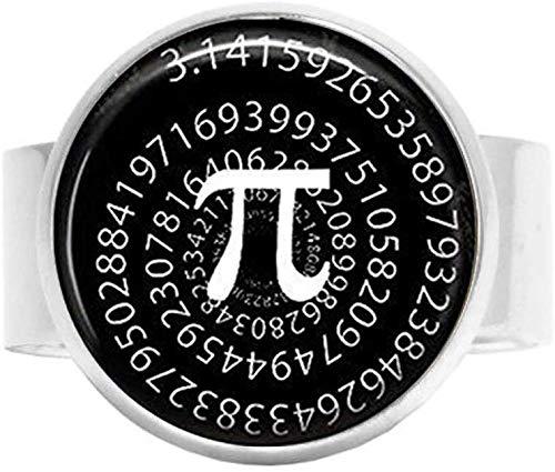 3.14 Pi símbolo foto encanto encanto estudiante matemático profesor joyería anillo vintage arte foto joyería