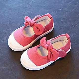 YIXIE Wwd Enfants Toile Arc Chaussures Chaussures Solides Baskets Solides, Taille: 28 WEEXIZHIGUANGLIYA (Color : Watermelo...