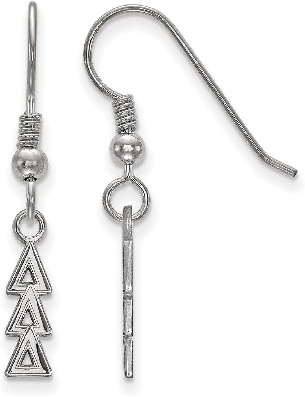 Beautiful Sterling silver 925 sterling Sterling Silver Rhplated LogoArt Delta Delta Delta Small Dangle Earrings