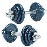 Everlast Unisex 18KG Dumbell Set Weight Workout - 18kg Set
