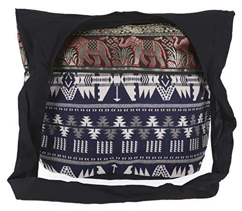 Guru-Shop Sadhu Bag, Schulterbeutel, Hippie Tasche Ikat - Blau/weiss Gemustert, Herren/Damen, Baumwolle, Size:One Size, 30x45x20 cm, Bunter Stoffbeutel