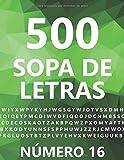 500 Sopa De Letras, Número 16: 500 Juegos, Para Adultos, Letra Grande