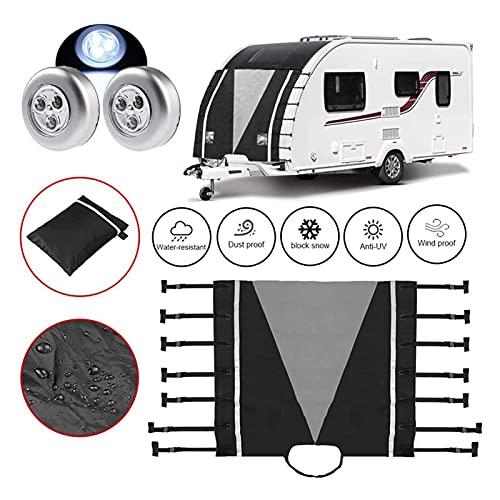 XIAOFANG Cubierta Frontal de Caravana Caravana Frente de Remolque Protector con Luces LED Cubierta de Remolque Frontal Impermeable