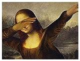 YZL Kit de Punto de Cruz contado: Principiantes para Adultos 1 1CT Hilo de Bordado- pre-ordenado DMC Hilo-Costura de Costura Decoración de la Pared -Dancing Mona Lisa (Size : 60x80cm)
