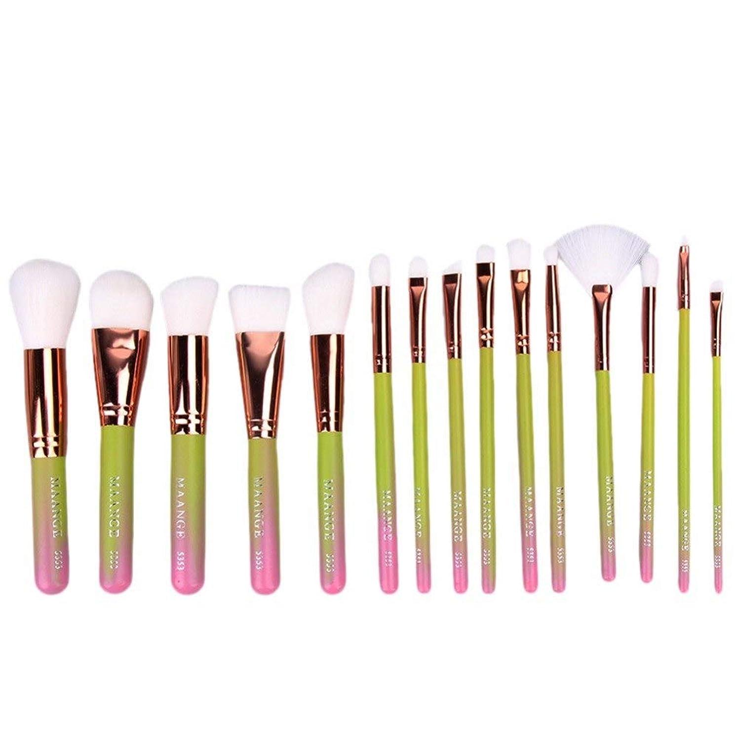 歌シャッターインレイRexulikoz - 15Pcsメイクはプロの美容化粧ブラシ優れた柔らかいブラシメイクブラシbrochas unicornioブラシ