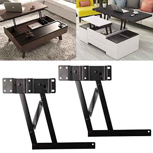 JUEYAN 2 x Klappscharnier Lift up Couchtisch Möbelscharnierfeder Scharnier Mechanismus Möbelscharnier für Lift Up Tisch