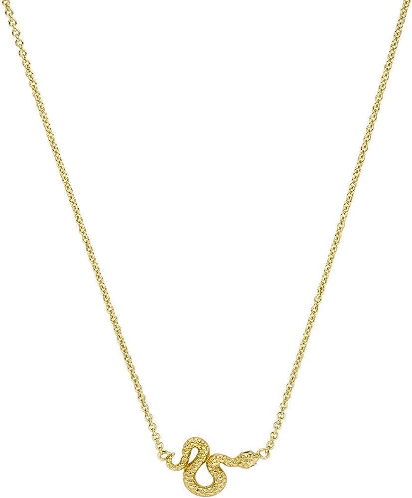 Faye® collana da donna con serpente,in orrone placcato oro 18 k FYW2010-S000009