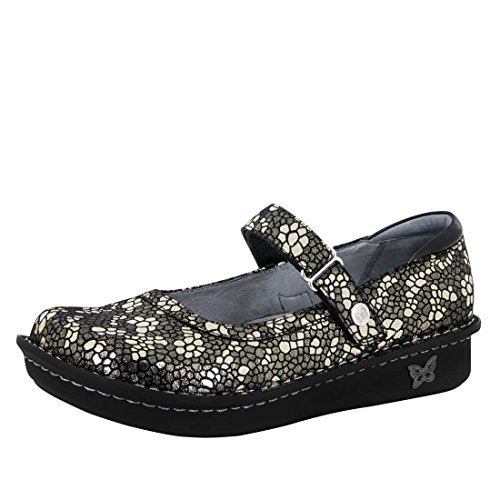 Alegria Belle Womens Mary Jane Shoe Pewter Mosaic 6 M US
