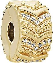 Pandora Stylish Wish Clip Gold One Size Charm 767798CZ