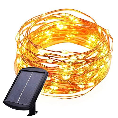 150LED Lumières Solaires de Ficelle Du Fil De Cuivre, KEEDA Solar String Lights Guirlandes Imperméables pour Extérieure Yard Patio Jardin Décoration(Blanc Chaud)