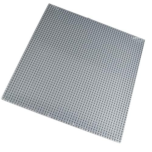 Panneaux de construction 50x50 trous bricolage petites briques plaques de base empilable classique blocs plaque pour enfants jouets 40x40 cm