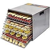 SOULONG - Secador de Frutas y Verduras, secador de Alimentos Profesional 35-68 °C para Carne, Frutas, Verduras y nueces, Hoja de Red, bandejas de Recogida de Grasas, 10 estantes, de Acero Inoxidable