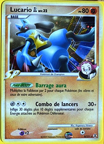carte Pokémon 8/111 Lucario 80 PV Platine Rivaux Émergeants NEUF FR