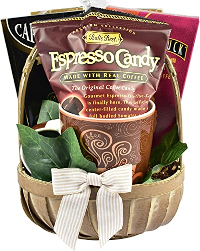 Village Caffe, The Perfect Gift Basket For The Coffee Lovers On Your List - Filled with Gourmet Coffee and Delicious Goodies