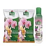 2X Terriccio Orchidee da 1 Lt+Spray Anti Parassitario| Substrato Naturale Specifico per Tutte Le Orchidee con Spray Anti Cocciniglia Mosca Bianca Aleurodidi|