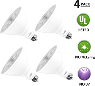 PAR38 LED Dimmable Bulb, LED Flood Light Bulb, 18W (180W Equivalent), 5000K Daylight, E26 Base, CRI 80+, 60° Beam Degrees, Perfect for Indoor and Outdoor Use