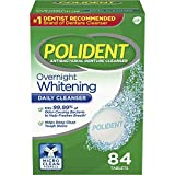 Polident Overnight Whitening Denture Cleanser