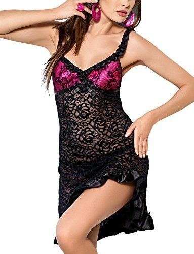 by Tessoro 252 Pink Attraction Set,Size M,Black-Pink