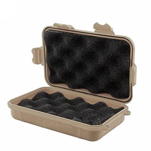 Boîte de rangement étanche et résistante aux chocs pour matériel de camping - Beige