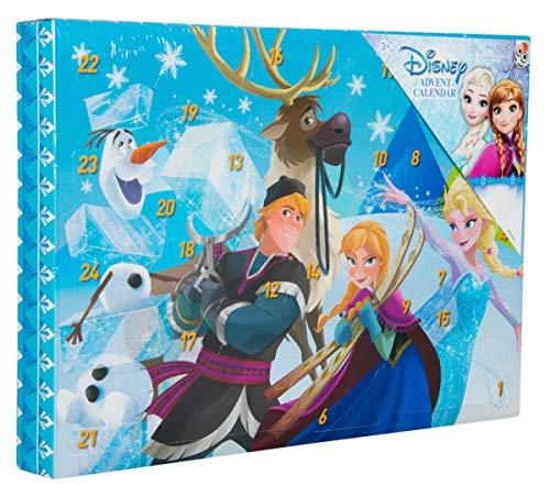 Sambro DFR15-6722 Adventskalender Disney Frozen mit Schreibwaren, kleinen Spielzeugen und Stickern, für Kinder ab 3 Jahre, bunt