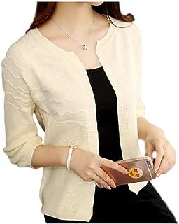 [フローライズ] 冷房対策 春夏 羽織り 5分袖 刺繍デザイン カーディガン 3色展開