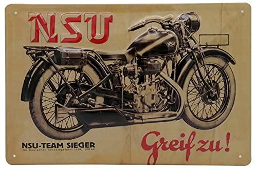NSU - Cartel publicitario retro de alta calidad con diseño