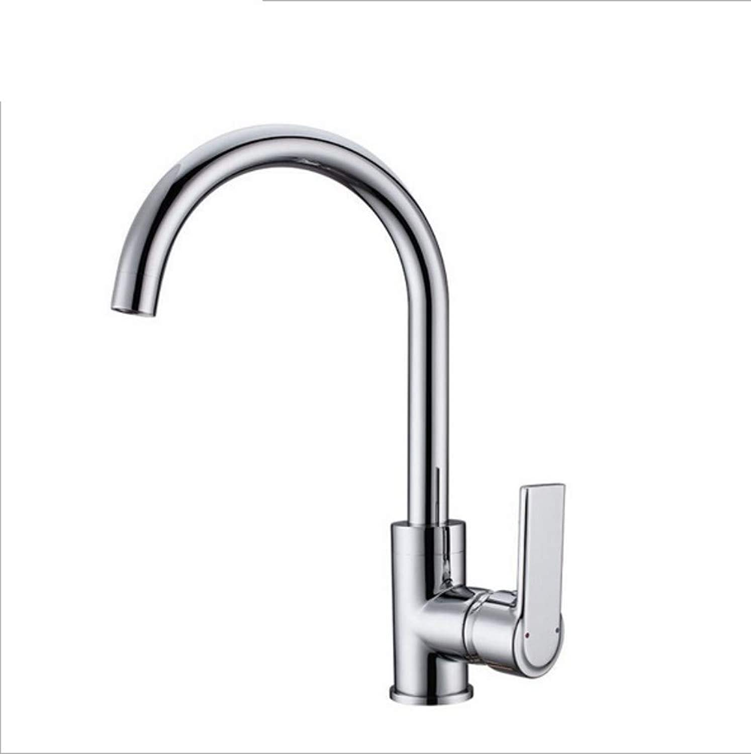Xiujie Faucet Copper Chrome Hot and Cold Kitchen Sink Faucet redary Sink Sink Faucet