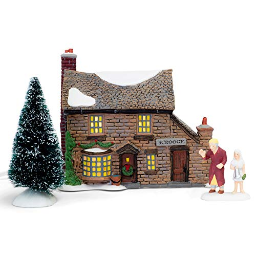 Department 56 Dickens A Christmas Carol Scrooge's Boyhood Home Lit Building, 5.91 Inch High