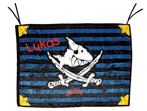 Spiegelburg 13447 - Capt'n Sharky Piratenflagge mit Namen beschriftet