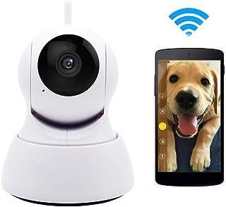 HaoY Cámara IP WiFi De 720P Cámara De Vigilancia Teléfono Celular con Wi-Fi Interior con Audio Bidireccional Detección De Movimiento Visión Nocturna Monitor para Bebés/MascotasWhite