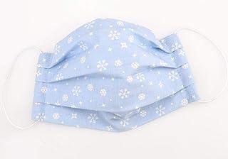 Maske - Schneeflocken Hellblau - Weihnachts-Edition - Baumwolle