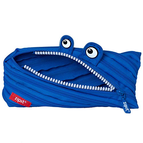 ZIPIT Monster Pencil Case for Boys, Holds Up to 30 Pens, Machine Washable, Made of One Long Zipper!