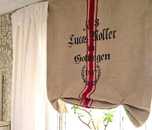 Burlap Sack Gottingen Window Curtain Valance